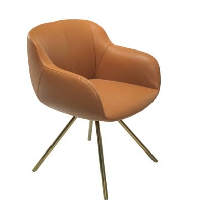 Armchair SHELL Cognac Leather