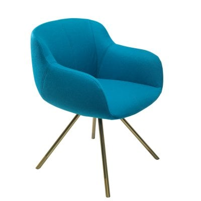 Armchair SHELL Aqua Fabric