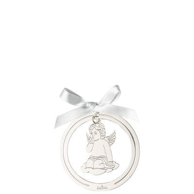 Pendant Angel kiss on hand 8 cm Silver Collection Angels Silver