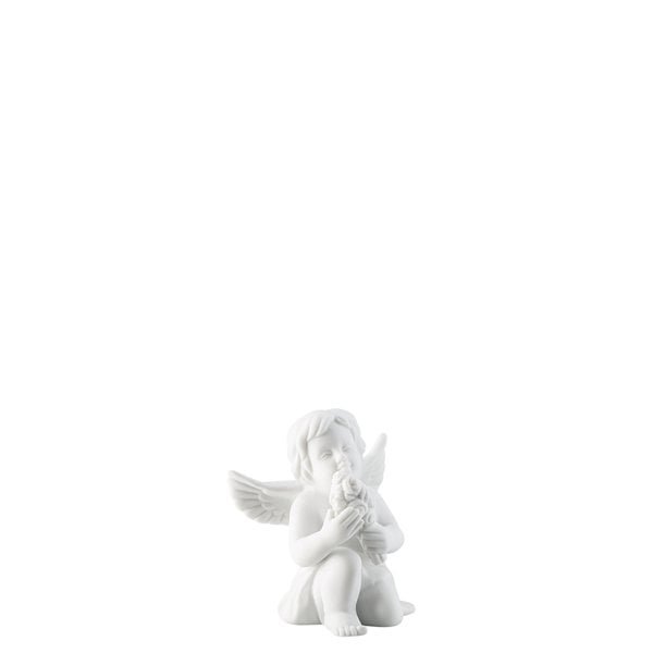 Angel with flowers Angel small White-mat