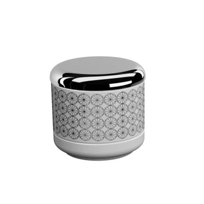 Box Equilibrium Circles White Chrome