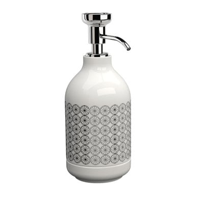 Free standing soap dispenser Equilibrium Circles White Chrome