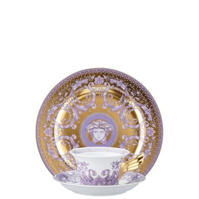 Set plate + cup & saucer / 25 years Versace Gr.Divertissem./gold