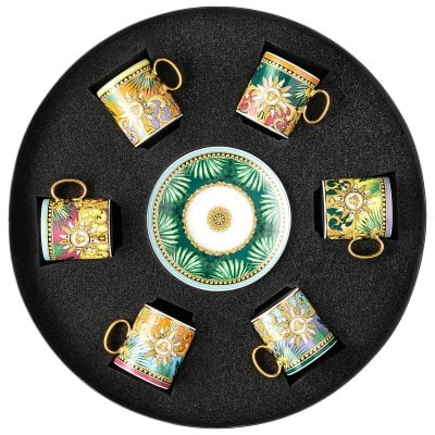 Set 6 Espressotassen Versace Jungle Animalier