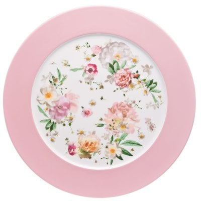 Service plate 33 cm Maria Pink Rose