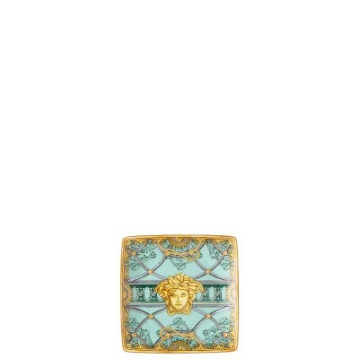Bowl 12 cm square flat Versace Scala Palazzo Verde