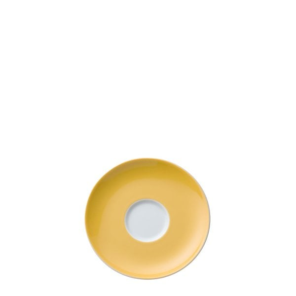Saucer 4 tall & 4 low Sunny Day Yellow