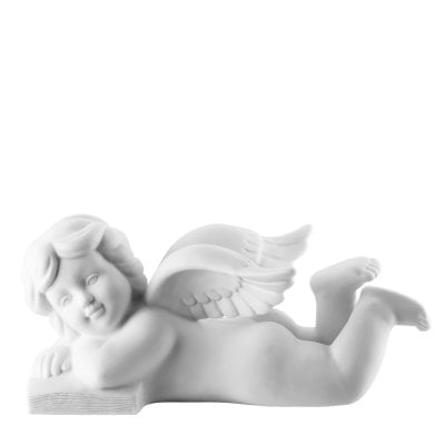Angel lying with book 6 cm Angel middle White-mat