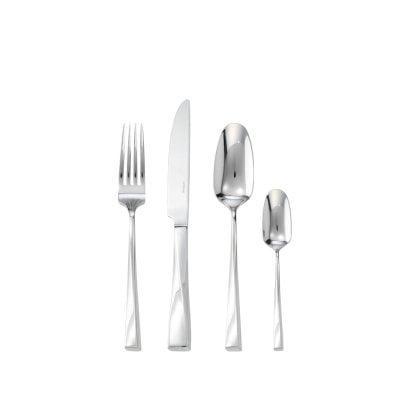 Set couverts table 24 pcs manche orfèvre Twist Edelstahl 18/10