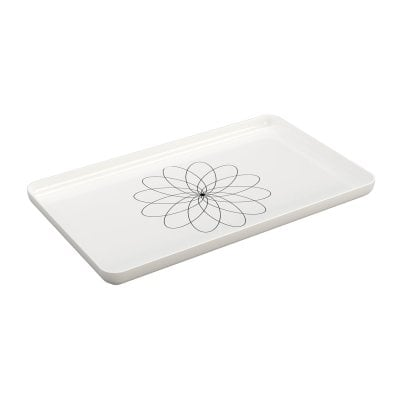 Tray Equilibrium White mat Chrome