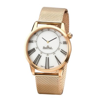 Wrist watch Lady Asymetria rosegold-white-metal