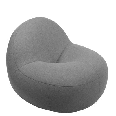 Easy chair SCOOP Stone Grey Fabric