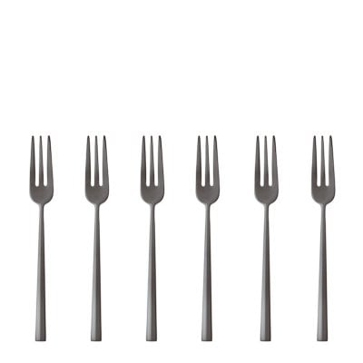Set 6 Cake fork Rock Stainless steel/ PVD 2black
