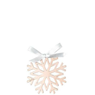 Pendant Snowflake 8cm Silver Collection Christmas Rose Gold