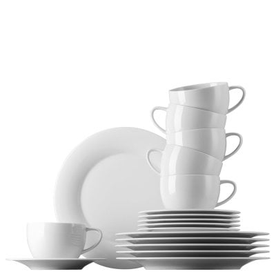 Coffee set 18 pcs. Yono Novo White