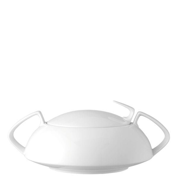Covered vegetable bowl TAC Gropius White