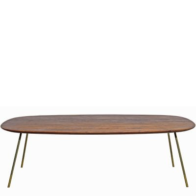 Table 240 x 120 cm MELLOW Noyer nature huilé