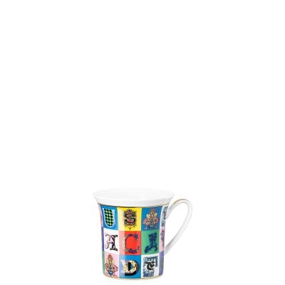 Mug with handle Versace Holiday Alphabet