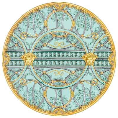 Service plate 33 cm Versace Scala Palazzo Verde