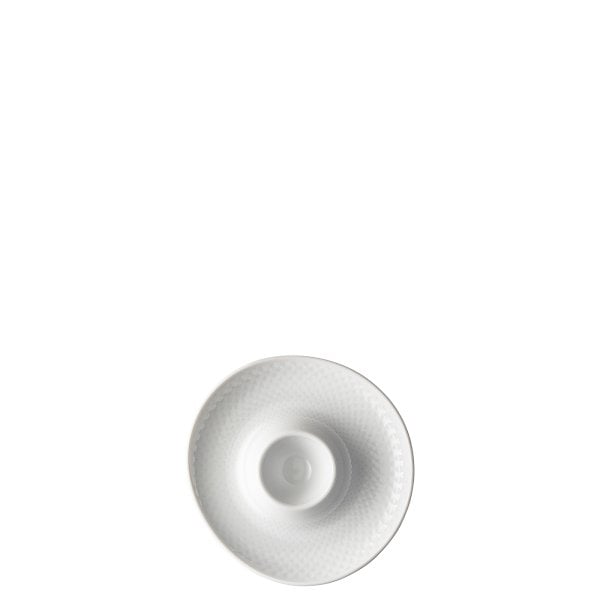 Egg cup with deposit Junto White
