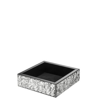 Storage tray 14 x 14 cm Silver Collection Scratch