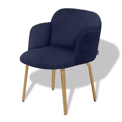 Chair with armrests BOLBO Midnight Blue Fabric