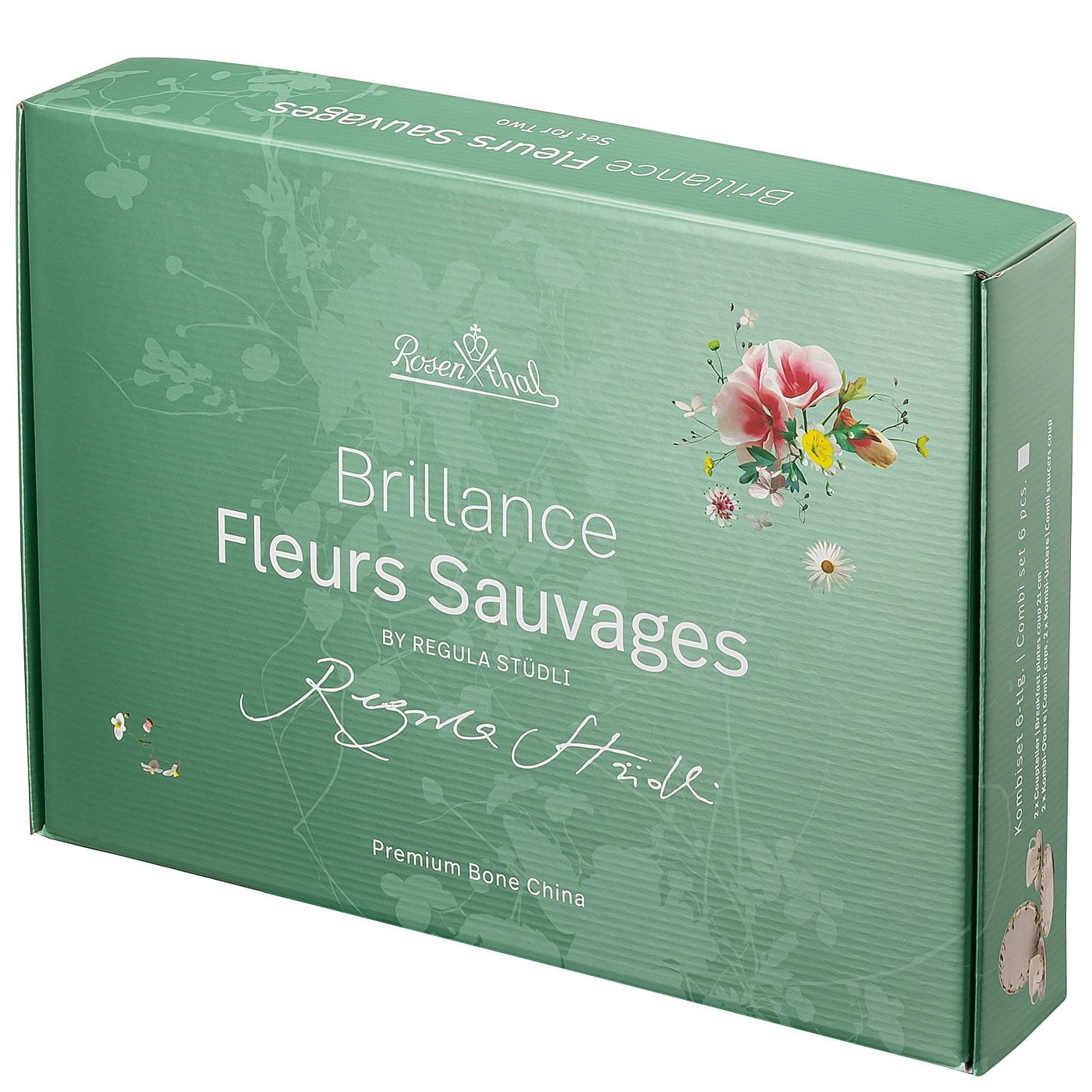 Brillance Fleurs Sauvages Set 6 Pcs With Combi Cups Saucers And