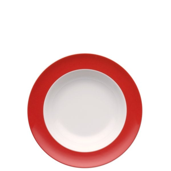 Plate deep 23 cm Sunny Day New Red