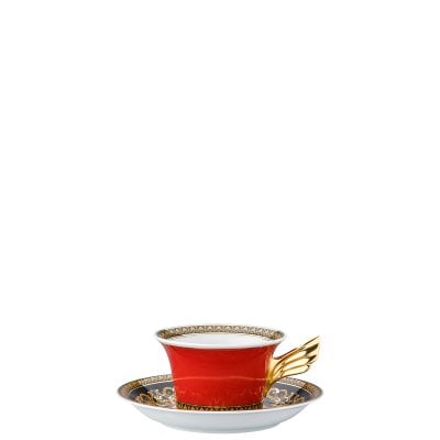 Tea cup & saucer / 25 years Versace Medusa