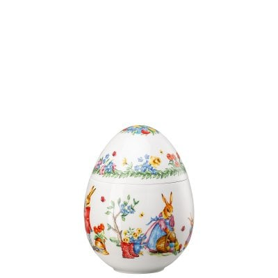 Maxi Music Box Decoration series egg Im Garten