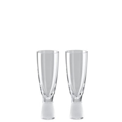 Set of 2 champagne glasses Vizner Schliff