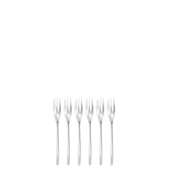 Set 6 pcs oyster/cake fork Bamboo Stainless steel 18/10