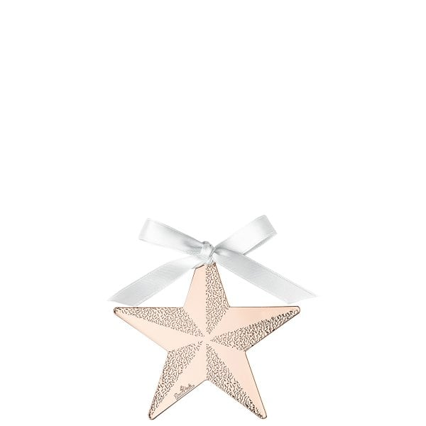 Pendant Star 8 cm Silver Collection Christmas Rose Gold