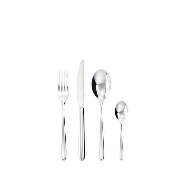 4 pcs. place setting S.H. Hannah Stainless steel 18/10