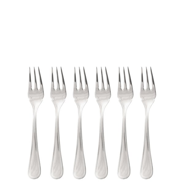 Set 6 pcs oyster/cake cutting fork Contour Stainless steel 18/10