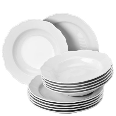 Dinner set 12 pcs. Maria Theresia White