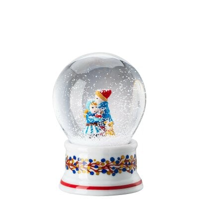 Glass sphere w. snow effect Weihnachten limit. Schneekugel 2020