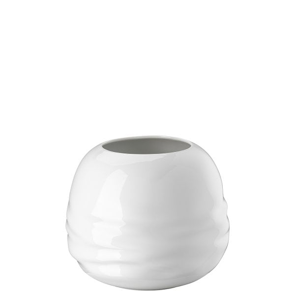 Vase 16 cm Waves White