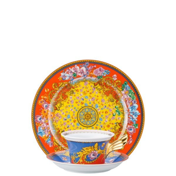 Set plate + cup & saucer / 25 years Versace Primavera