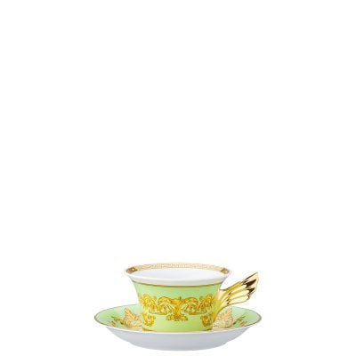 Tea cup & saucer / 25 years Versace Green Floralia