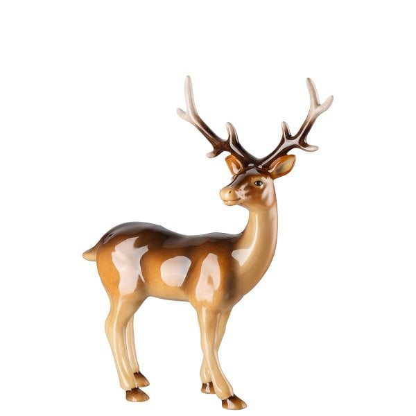 Figurine Stag large Cozy Winter decorated