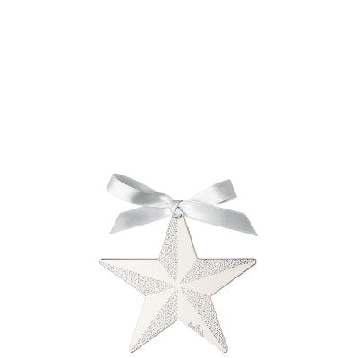 Pendant Star 8 cm Silver Collection Christmas Silver