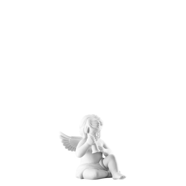 Angel with bell 6 cm Angel small White-mat