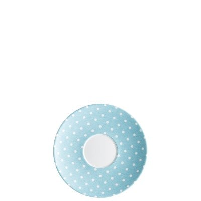 Cappuccino saucer Springtime turquoise
