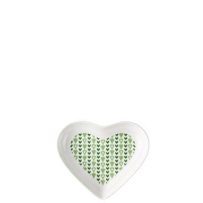 Dish 17 cm Lots of hearts Green