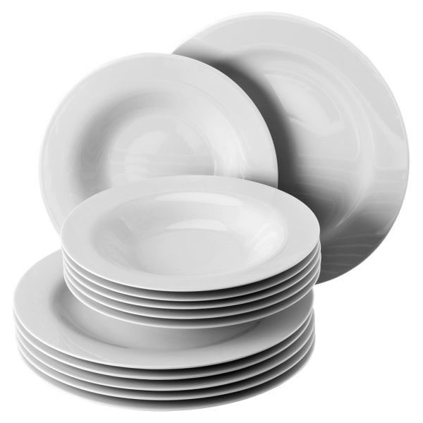Dinner set 12 pcs. Moon White