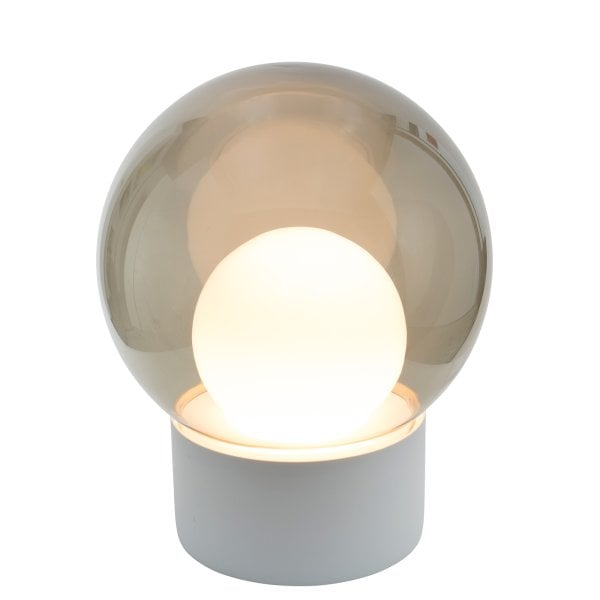 Boule Medium white, Glass smoky grey/opalwhite