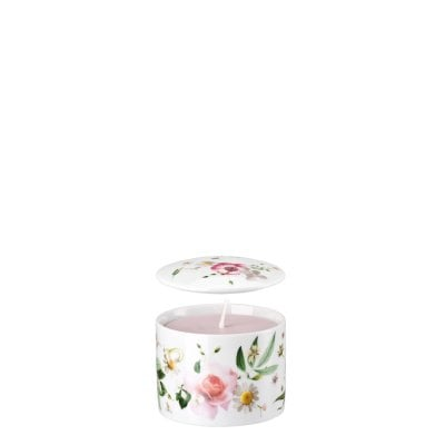 Scatola con candela Pink Rose Duft Fresia