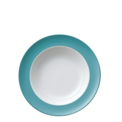 Plate deep 23 cm Sunny Day Turquoise