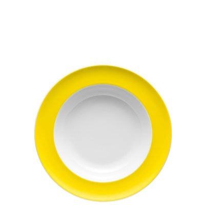 Plate deep 23 cm Sunny Day Neon Yellow
